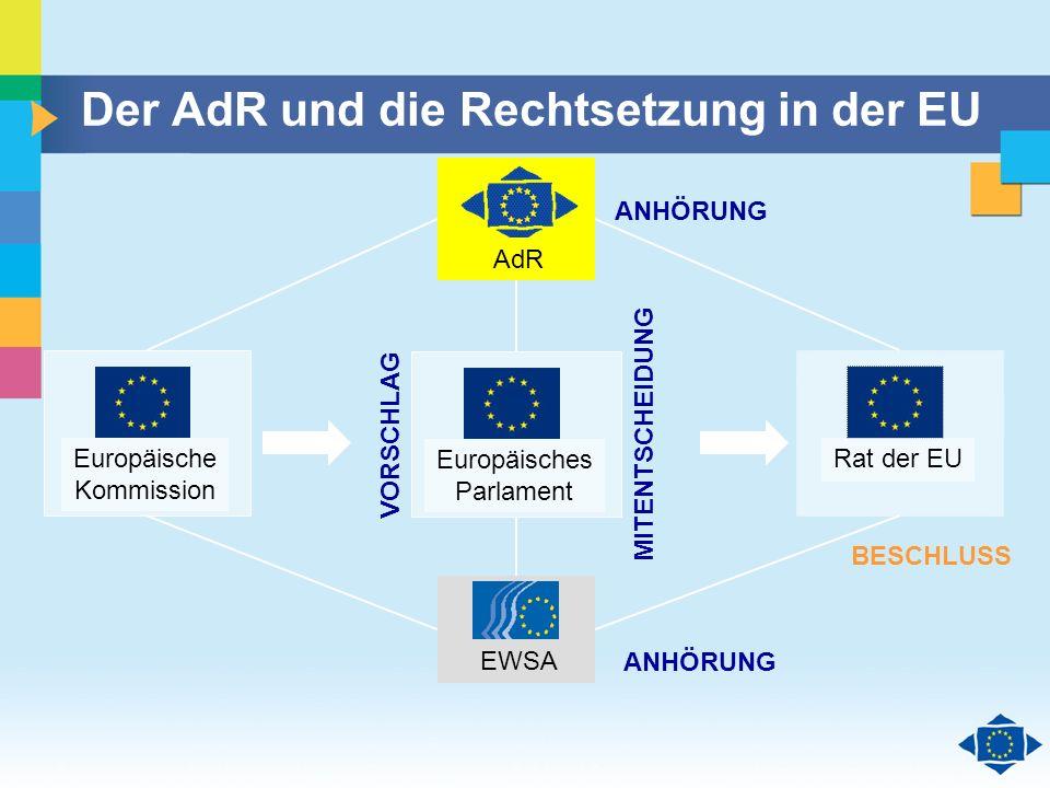 Der AdR und die Rechtsetzung in der EU