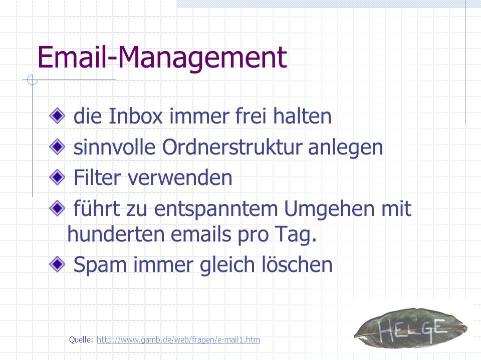 Email-Management die Inbox immer frei halten