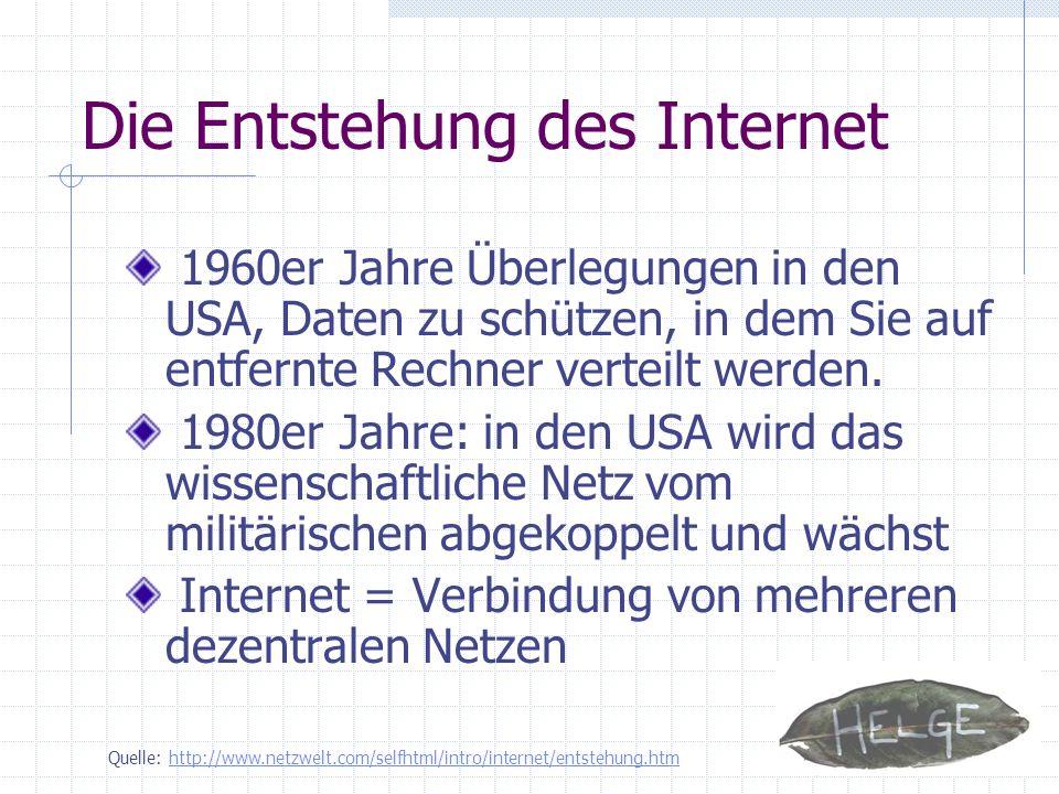 Die Entstehung des Internet