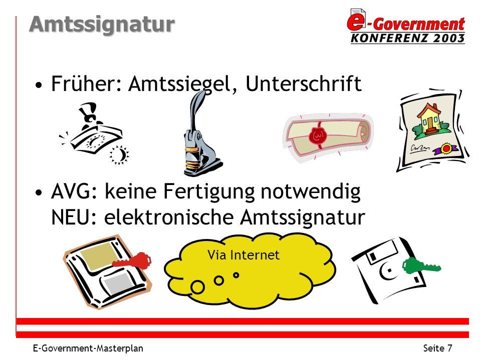 Früher: Amtssiegel, Unterschrift