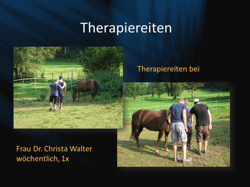 Therapiereiten Therapiereiten bei Frau Dr. Christa Walter