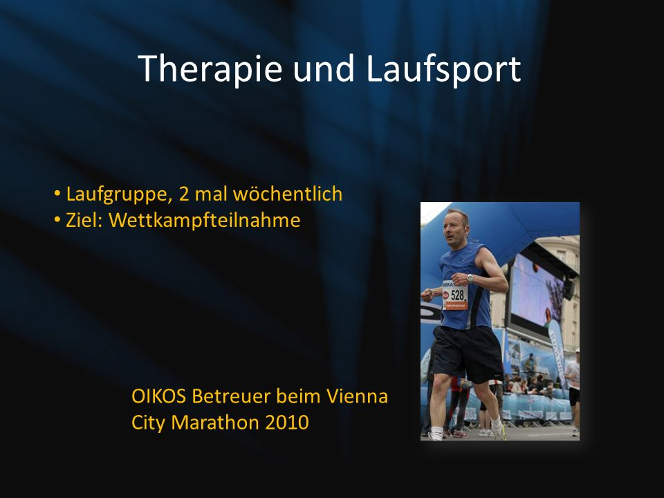 Therapie und Laufsport