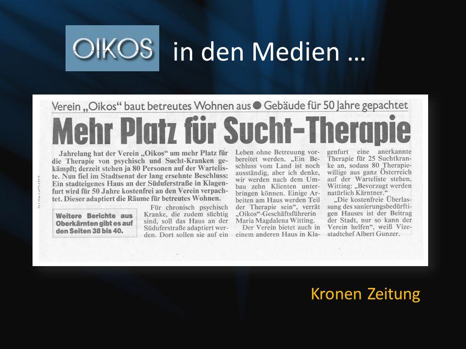 in den Medien … Kronen Zeitung