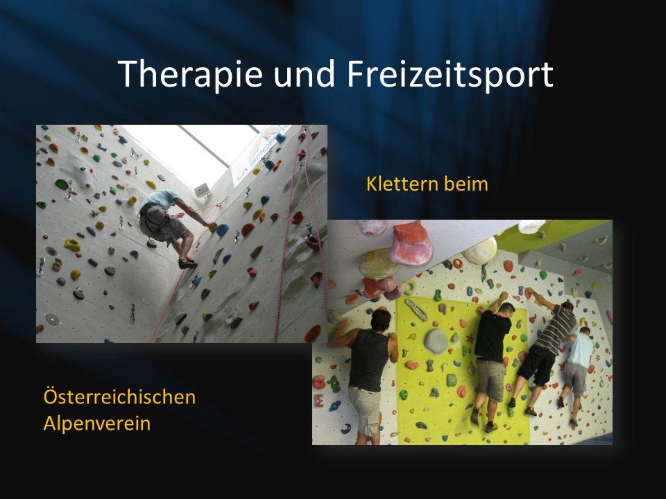 Therapie und Freizeitsport