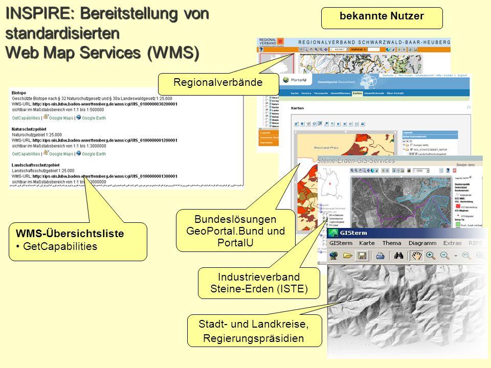 INSPIRE: Bereitstellung von standardisierten Web Map Services (WMS)
