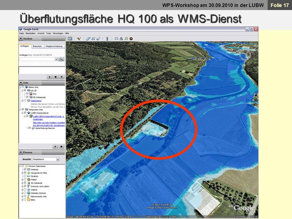 Überflutungsfläche HQ 100 als WMS-Dienst