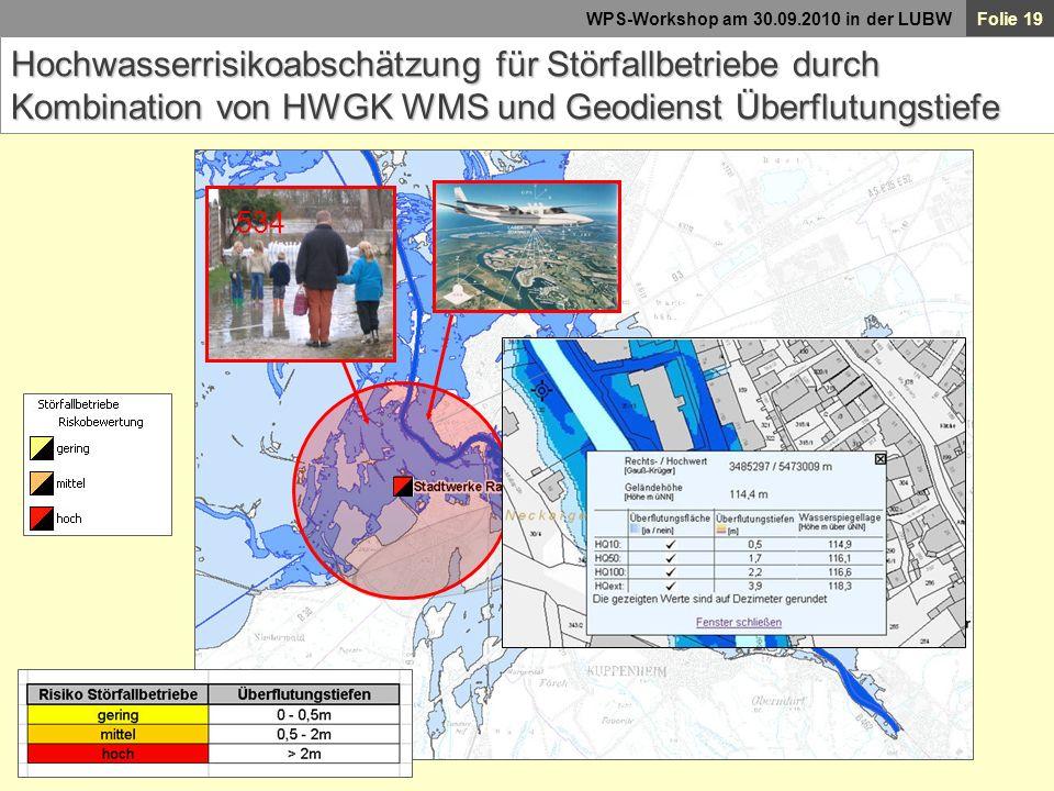 Hochwasserrisikoabschätzung für Störfallbetriebe durch