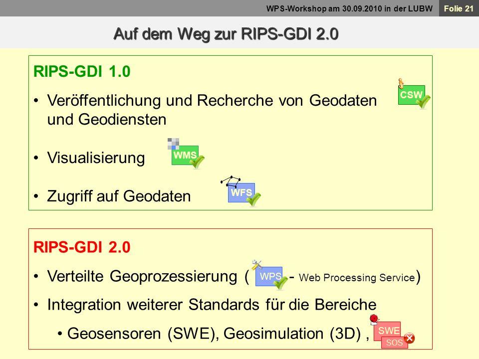 Auf dem Weg zur RIPS-GDI 2.0