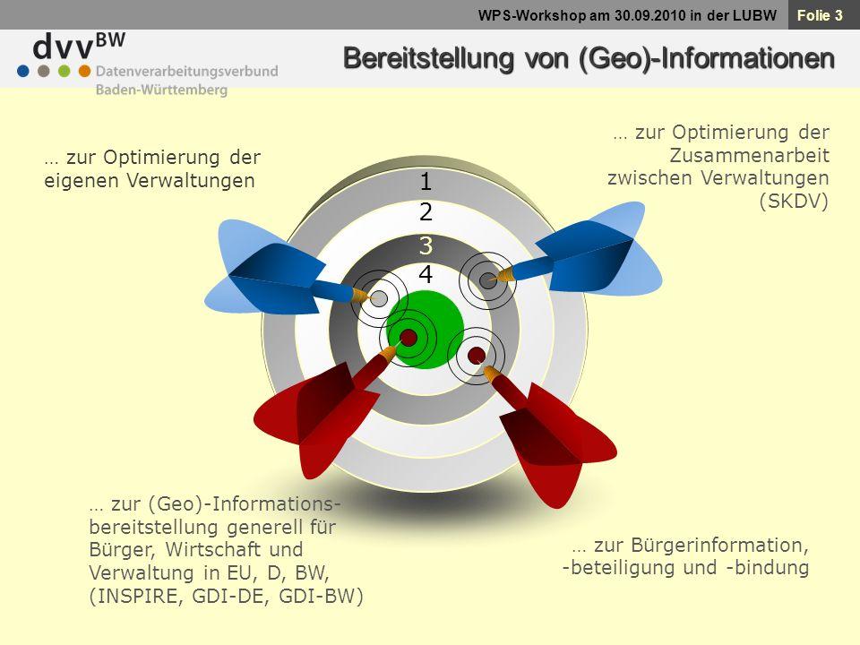 Bereitstellung von (Geo)-Informationen