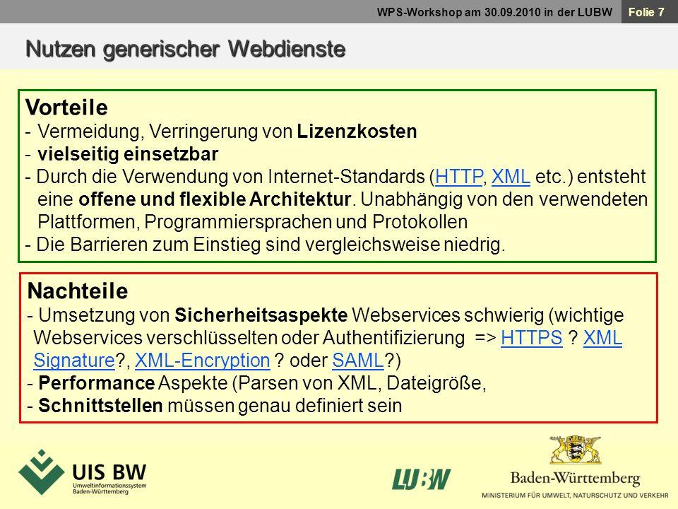 Nutzen generischer Webdienste