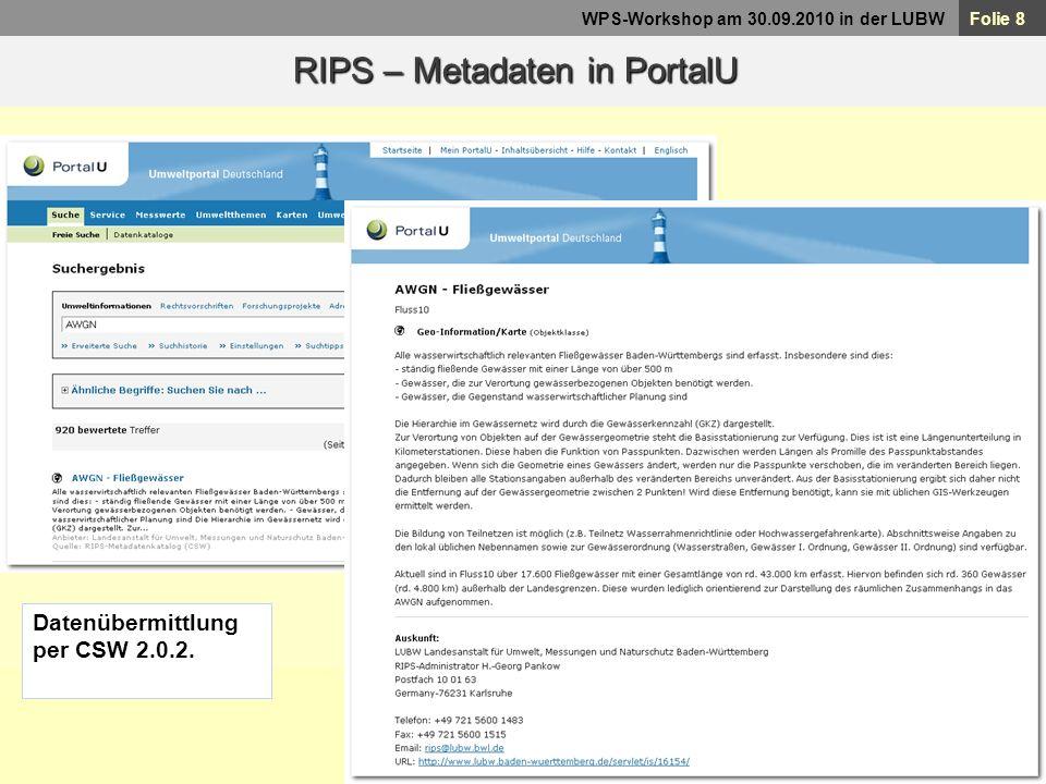 RIPS – Metadaten in PortalU
