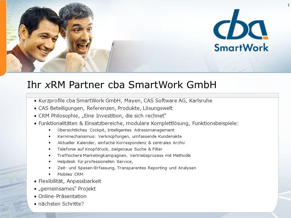 Ihr xRM Partner cba SmartWork GmbH