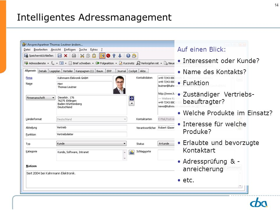 Intelligentes Adressmanagement