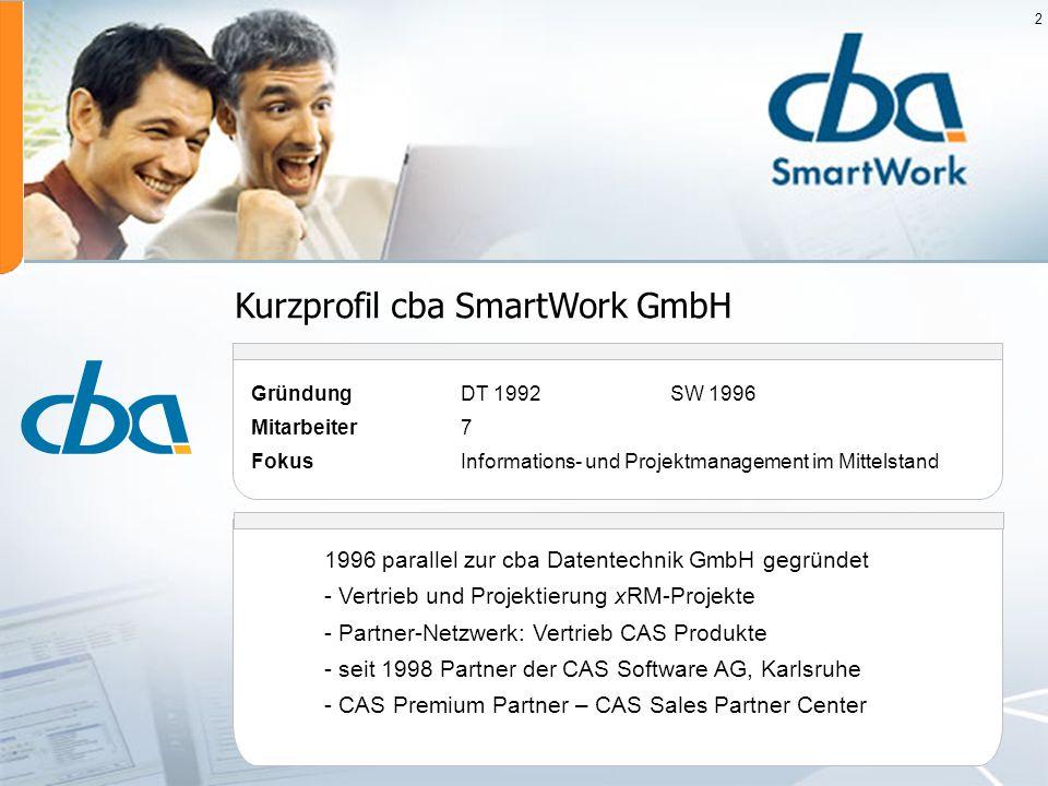 Kurzprofil cba SmartWork GmbH