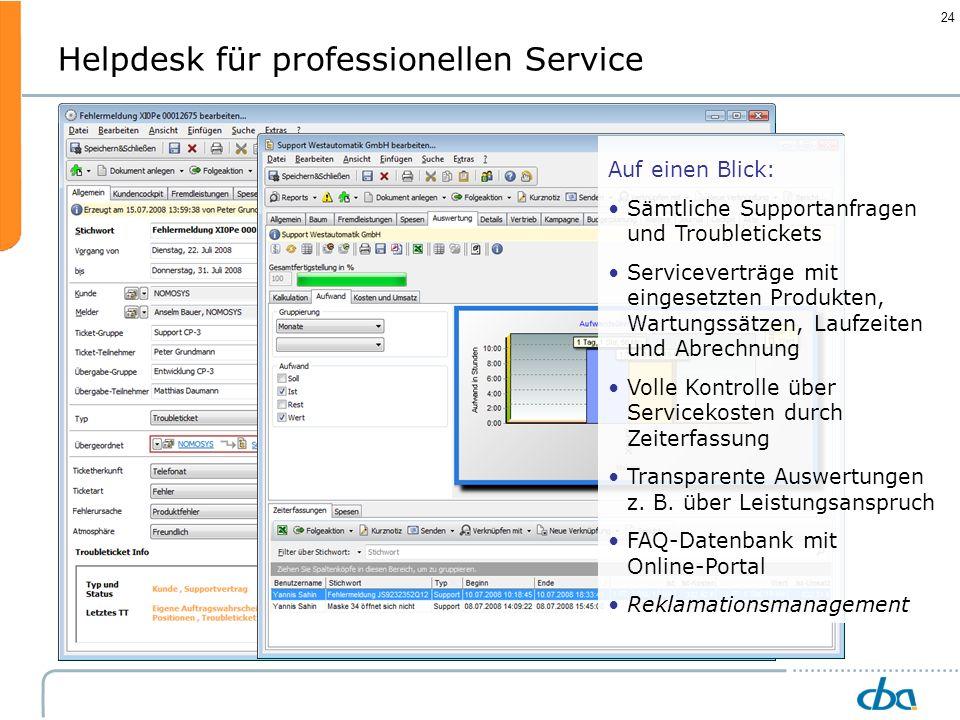 Helpdesk für professionellen Service
