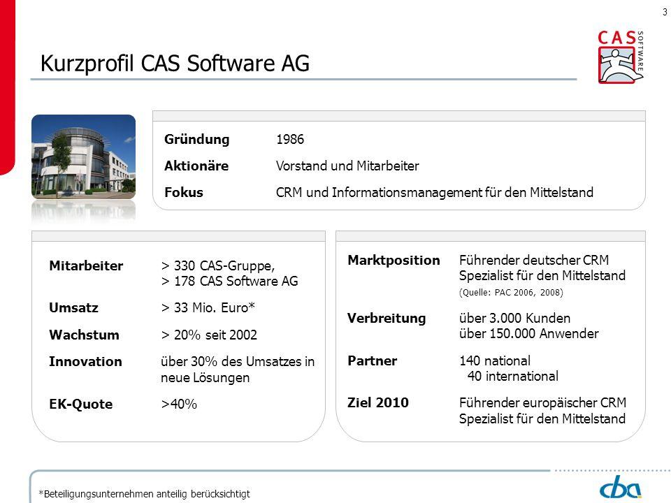 Kurzprofil CAS Software AG