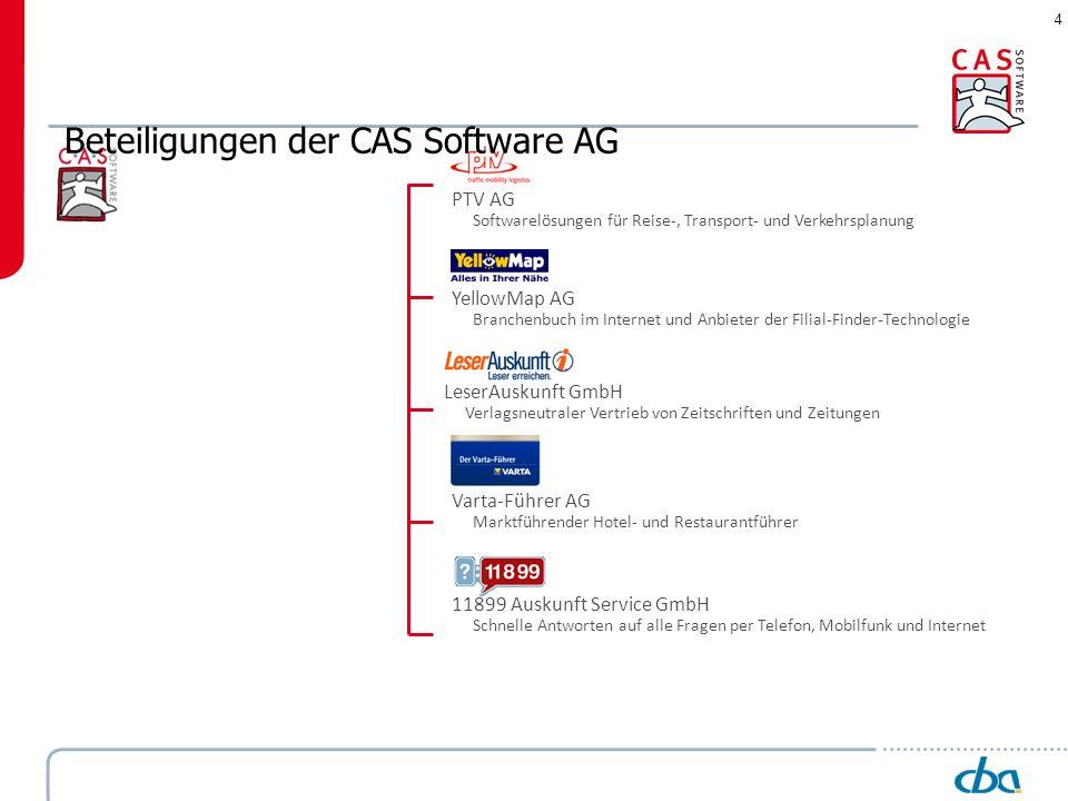 Beteiligungen der CAS Software AG