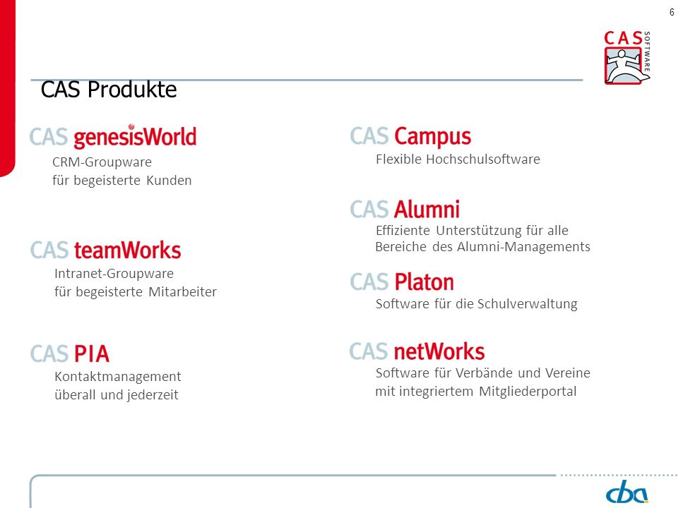 CAS Produkte Flexible Hochschulsoftware