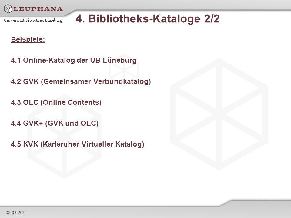 4. Bibliotheks-Kataloge 2/2