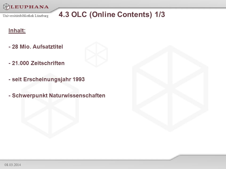 4.3 OLC (Online Contents) 1/3