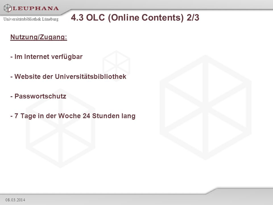4.3 OLC (Online Contents) 2/3