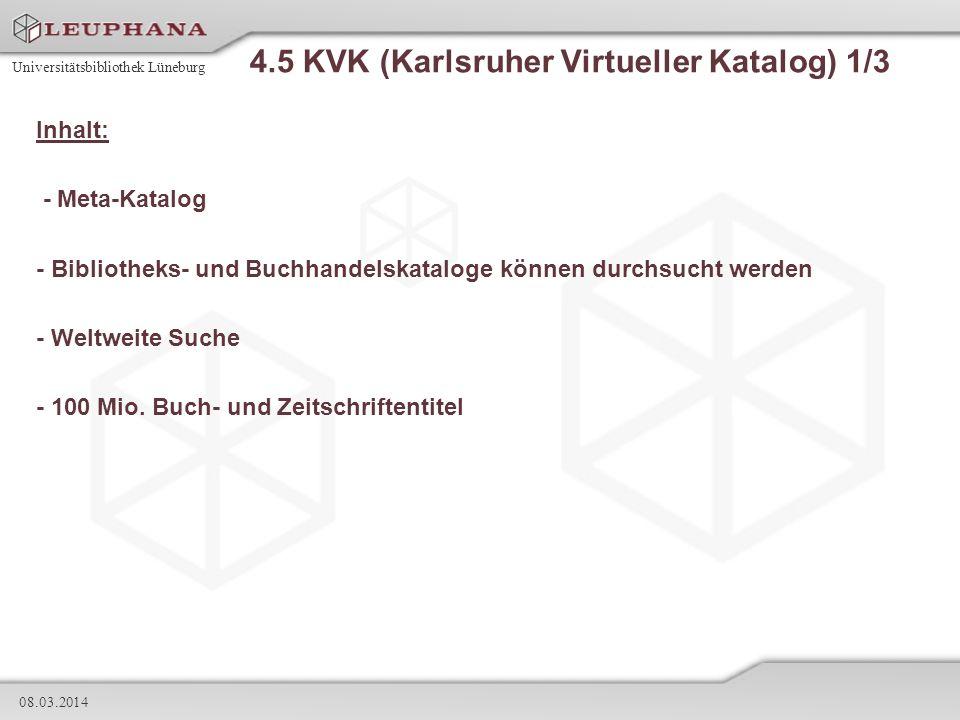 4.5 KVK (Karlsruher Virtueller Katalog) 1/3