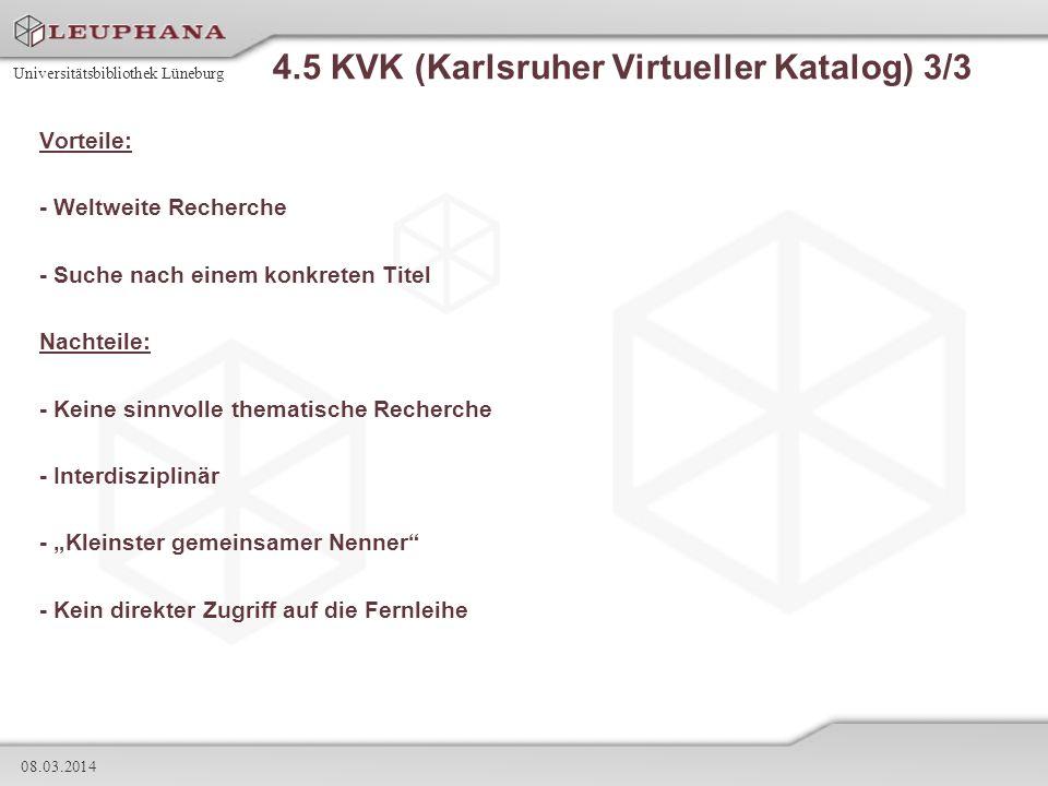 4.5 KVK (Karlsruher Virtueller Katalog) 3/3