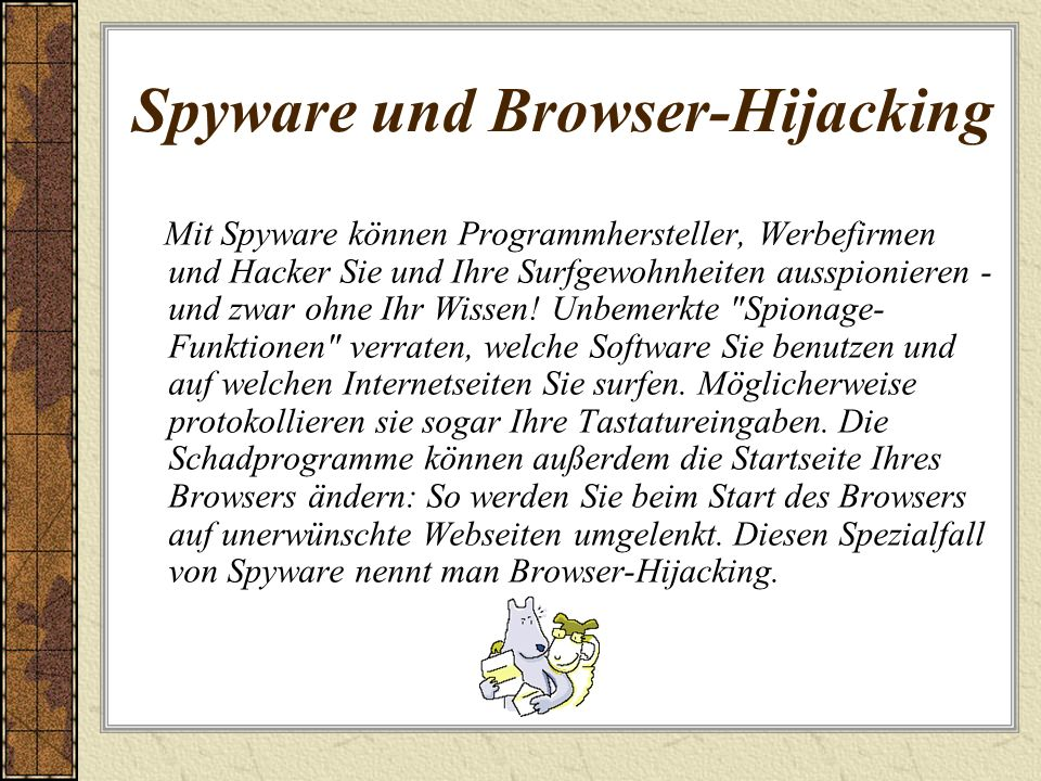Spyware und Browser-Hijacking