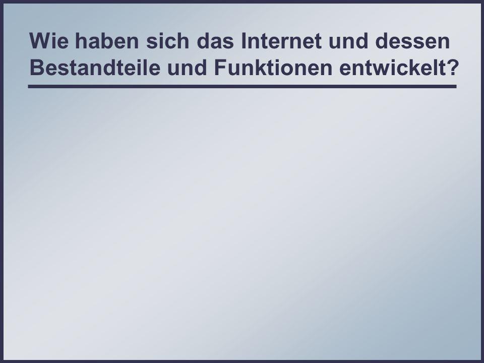 Wie haben sich das Internet und dessen