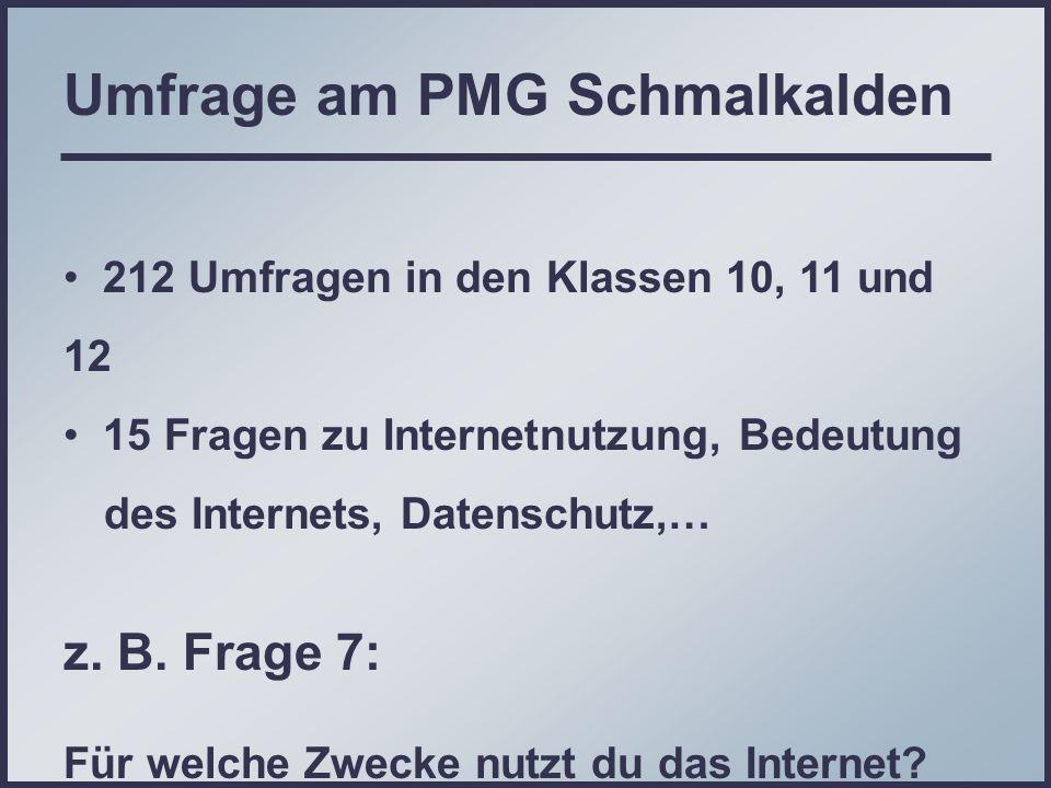 Umfrage am PMG Schmalkalden