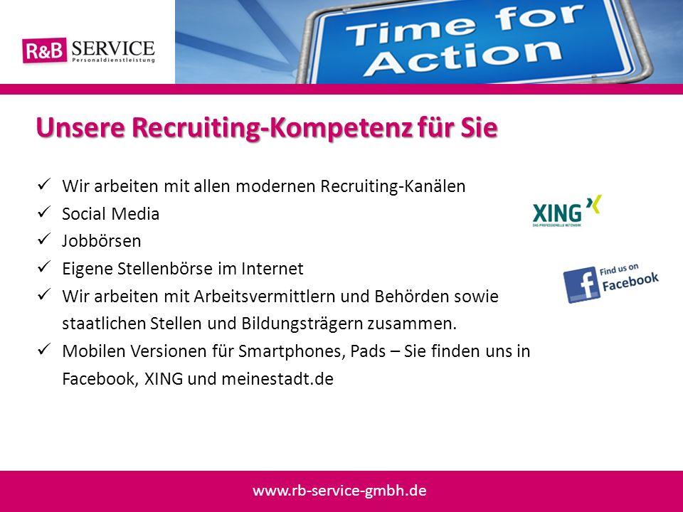 Unsere Recruiting-Kompetenz für Sie