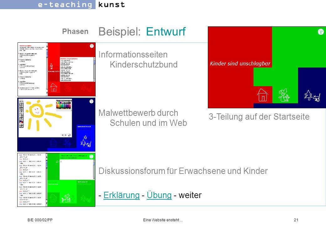 Beispiel: Entwurf Informationsseiten Kinderschutzbund