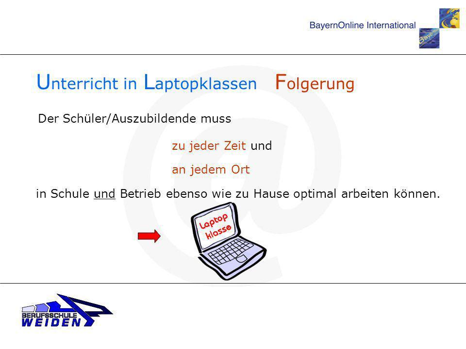 Unterricht in Laptopklassen Folgerung