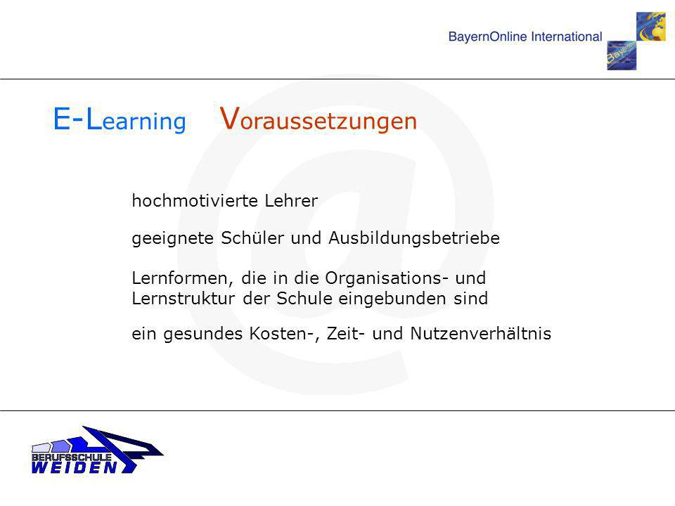 E-Learning Voraussetzungen hochmotivierte Lehrer