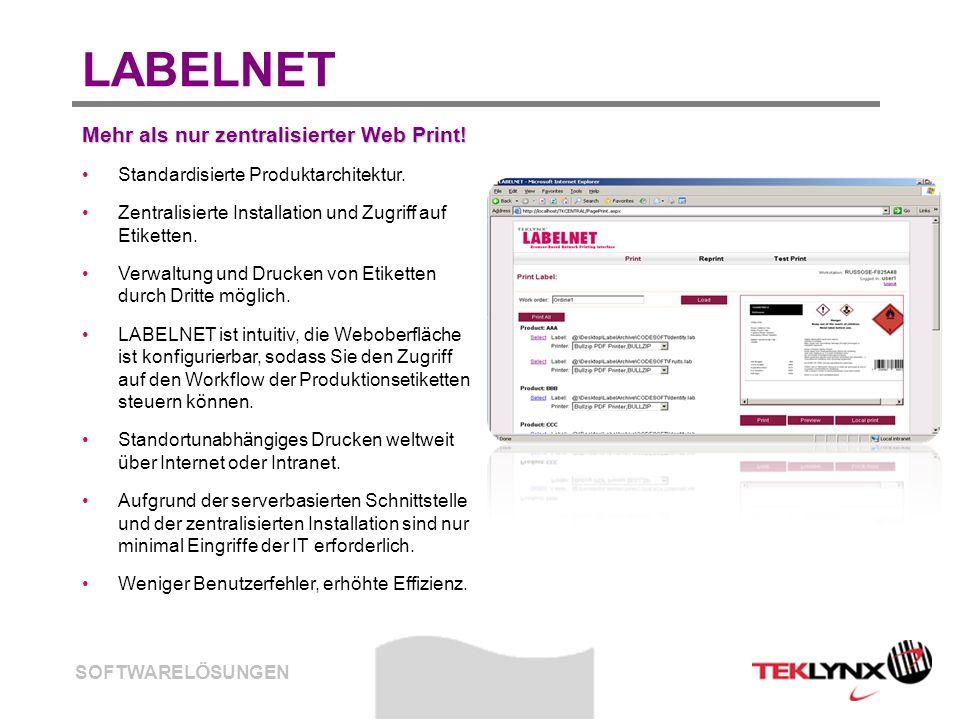 LABELNET Mehr als nur zentralisierter Web Print!