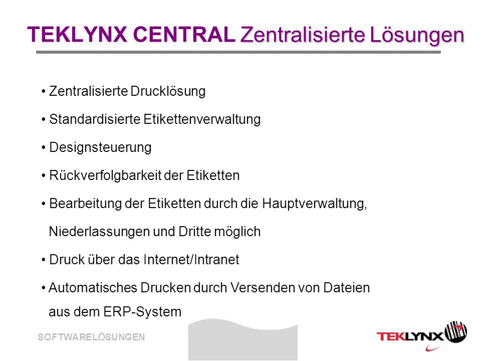 TEKLYNX CENTRAL Zentralisierte Lösungen