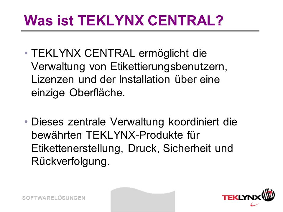 Was ist TEKLYNX CENTRAL