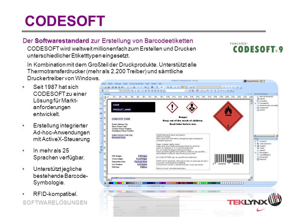 CODESOFT Der Softwarestandard zur Erstellung von Barcodeetiketten