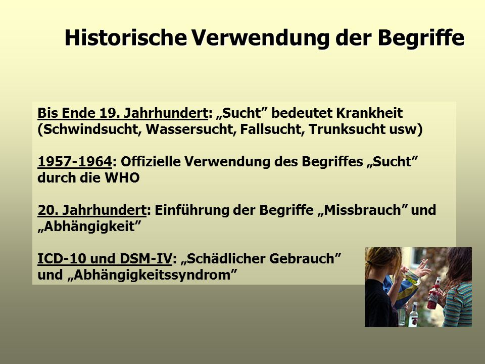 Historische Verwendung der Begriffe