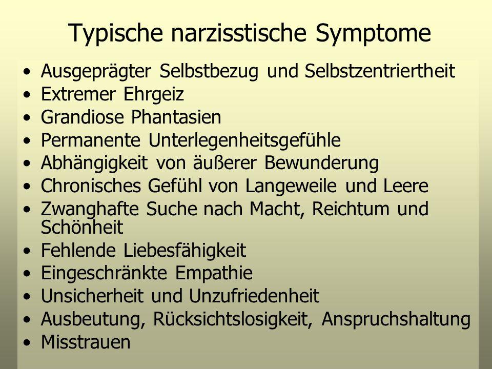 Typische narzisstische Symptome