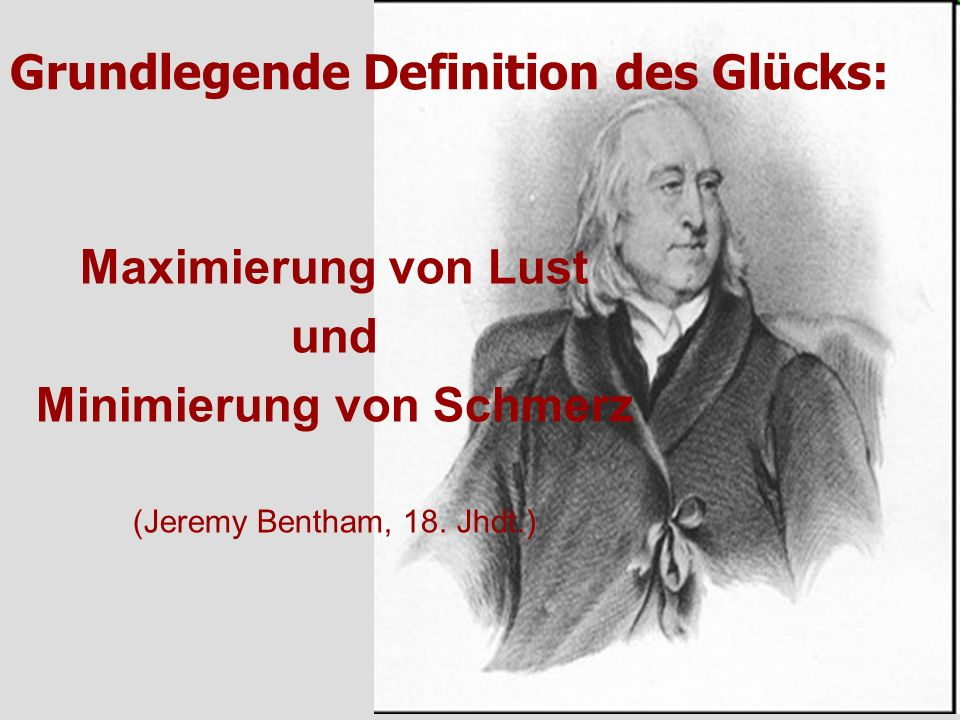 Grundlegende Definition des Glücks: