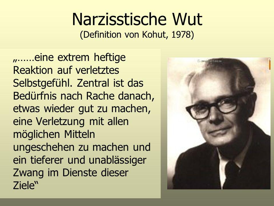 Narzisstische Wut (Definition von Kohut, 1978)