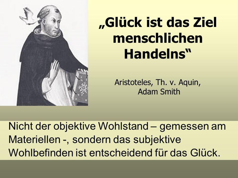 """""""Glück ist das Ziel menschlichen Handelns Aristoteles, Th. v"""