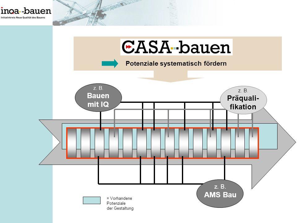 fikation Potenziale systematisch fördern z. B. AMS Bau