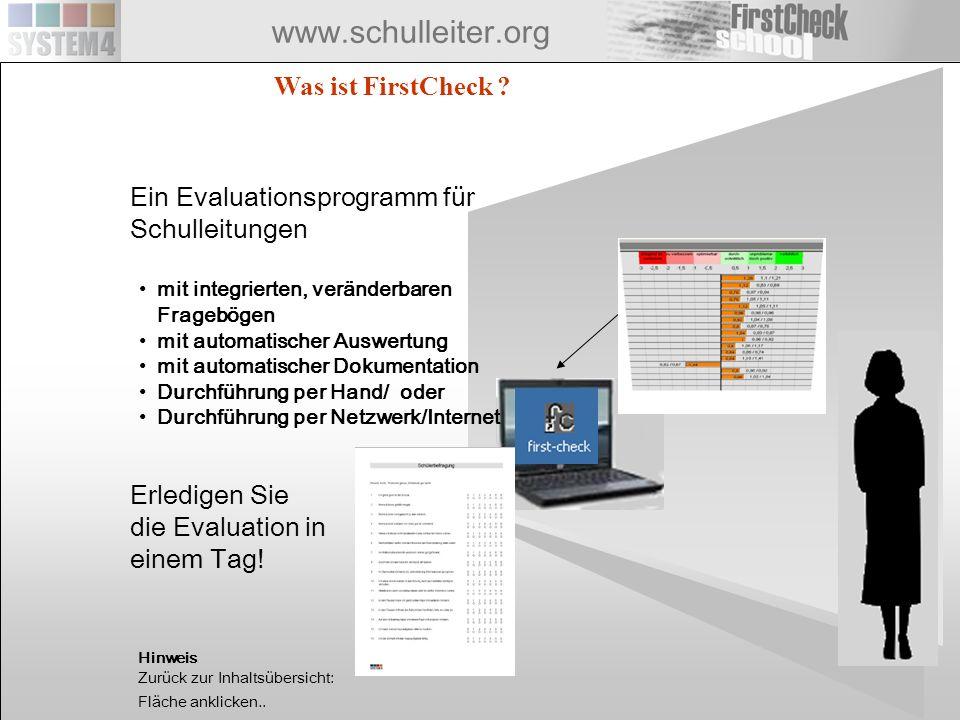 Ein Evaluationsprogramm für Schulleitungen