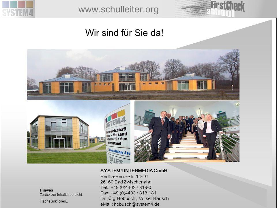 Wir sind für Sie da! SYSTEM4 INTERMEDIA GmbH Bertha-Benz-Str. 14-16