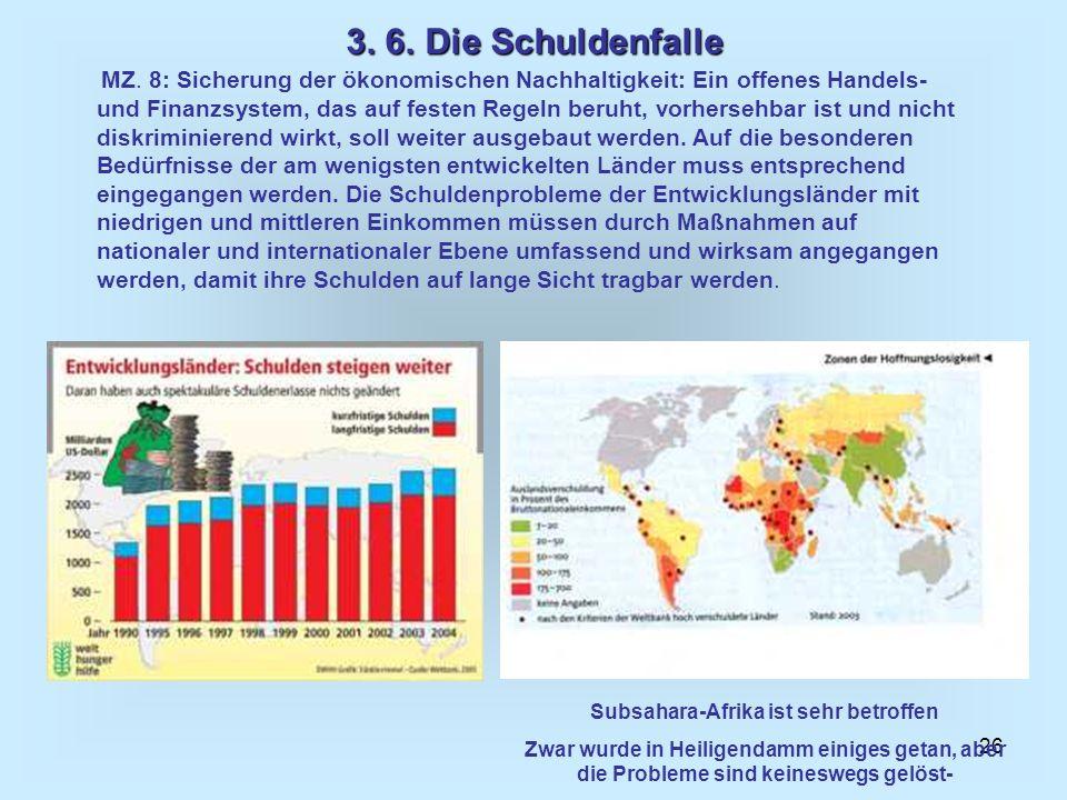Subsahara-Afrika ist sehr betroffen