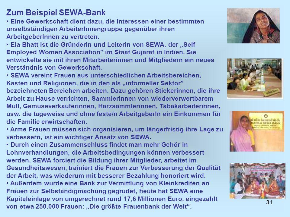 Zum Beispiel SEWA-Bank