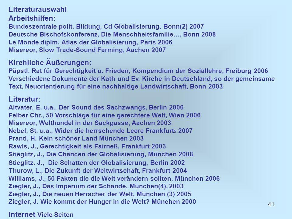Literaturauswahl Arbeitshilfen: Bundeszentrale polit