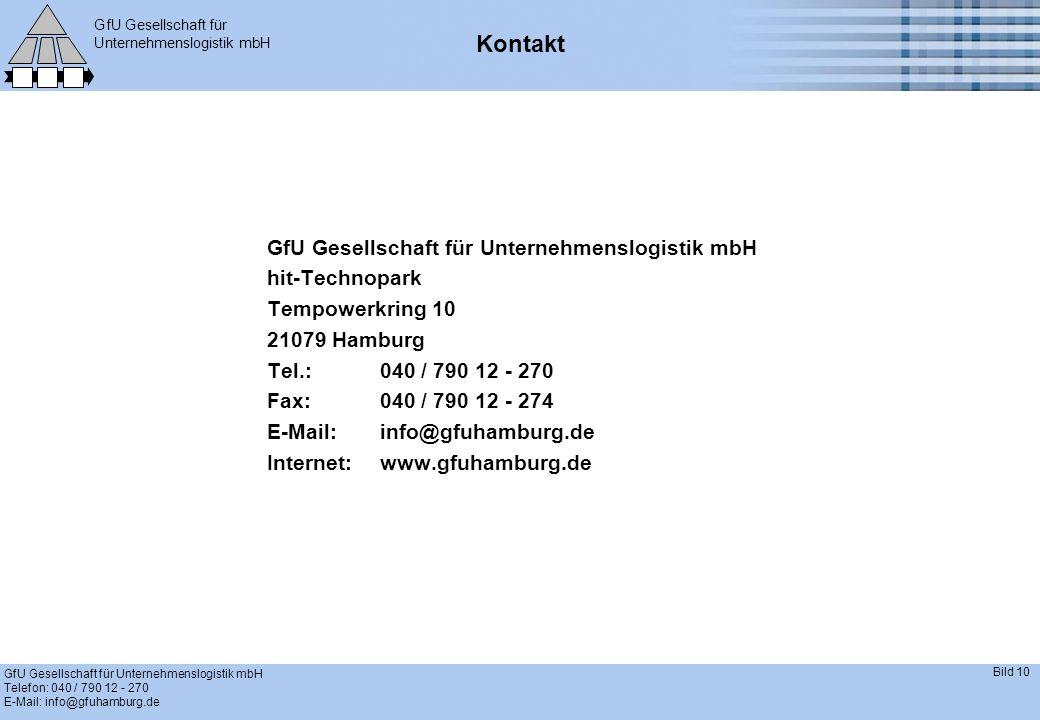 Kontakt GfU Gesellschaft für Unternehmenslogistik mbH hit-Technopark